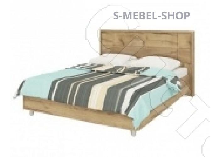 Спальня Корвет МК 52 - Кровать с ортопедическим основанием №235. Дуб золотой