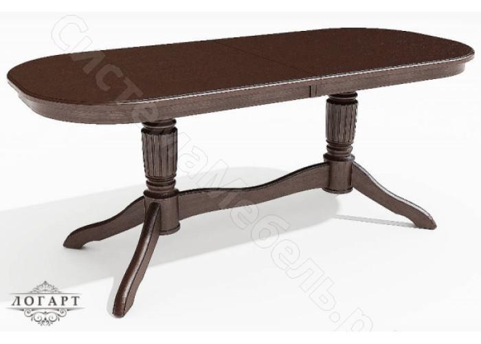 Стол обеденный раскладной Зубр 2 из натурального дерева