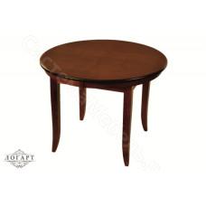 Стол кухонный раскладной круглый Балет из натурального дерева