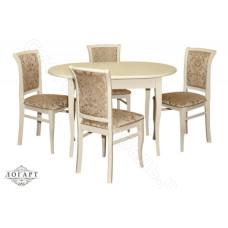 Обеденная группа Логарт из натурального дерева: стол Лемур + стулья М15