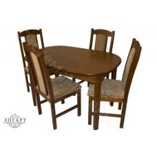 Обеденная группа Логарт из натурального дерева: стол ВМ30 + стулья М40