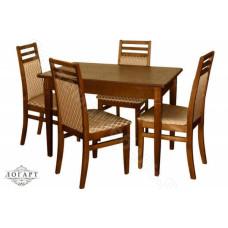 Обеденная группа Логарт из натурального дерева: стол Барсук + стулья М12
