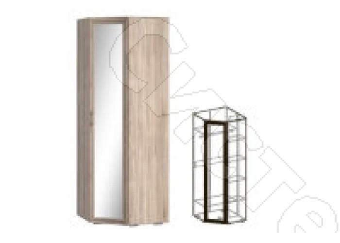 Модульная прихожая Бруно - Шкаф угловой зеркальный 440. Дуб сонома
