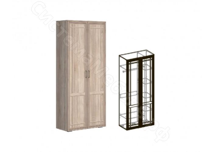Модульная гостиная Бруно - Шкаф 2-х створчатый комбинированный 440. Дуб сонома