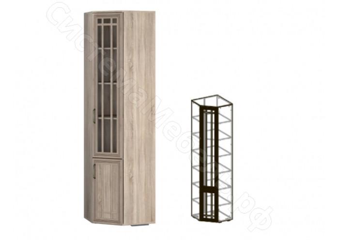 Модульная спальня Бруно - Шкаф угловой левый 440. Дуб сонома