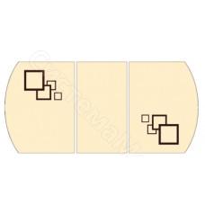 Раскладной. Фотопечать - Беж и черные квадраты (принт 001)