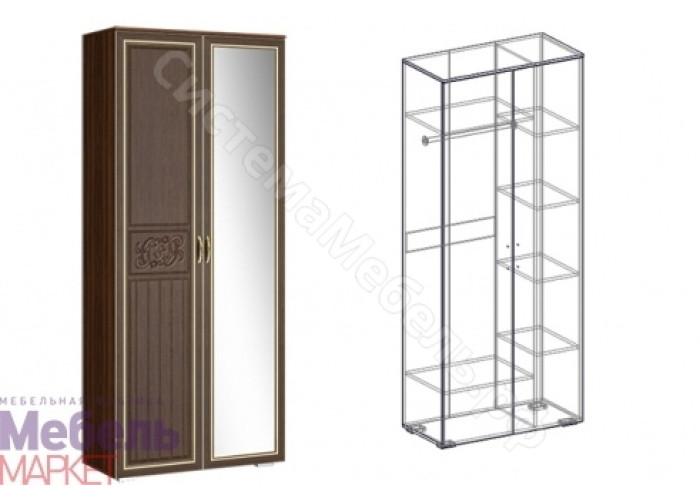 Гостиная Виктория - Шкаф 2-х створчатый комбинированный левый 440. Орех/Орех