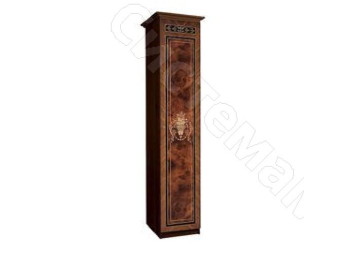 Модульная гостиная Карина-3 - Шкаф 1-дверный для белья (правый). Темный орех