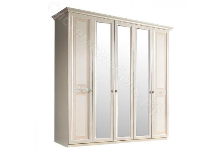 Модульная спальня Карина 3 - Шкаф 5-ти дверный (с зеркалами). Беж