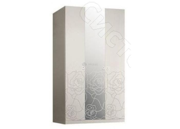Модульная спальня Роза - Шкаф 3-х дв. (с зеркалами). Слоновая кость