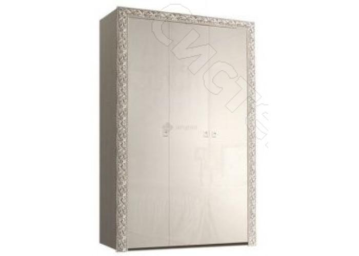 Модульная спальня Тиффани - Шкаф 3-дв. без зеркал. Слоновая кость