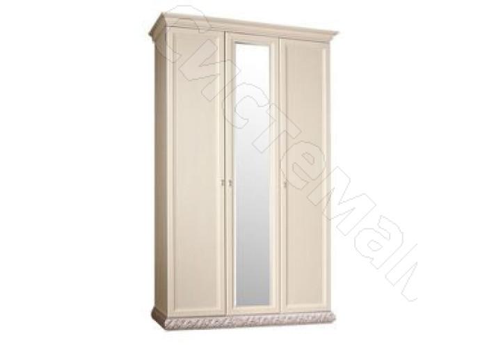 Модульная спальня Тиффани - Шкаф 3-дв. с зеркалом. Серебро