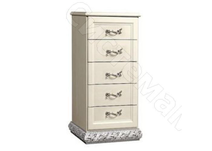 Модульная спальня Тиффани - Комод узкий. Серебро