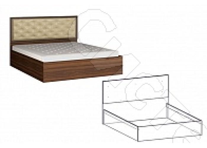 Спальня Виктория - Кровать мягкое изголовье 1800. Орех/Орех