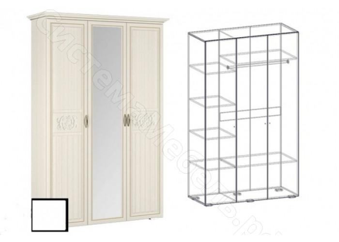 Спальня Виктория - Шкаф-купе 3-х створчатый . Ясень Шимо светлый/Филадельфия