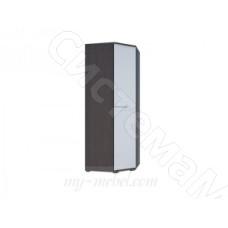 Модульная спальня Луиза - Шкаф угловой с зеркалами. Дуб венге/Белый глянец
