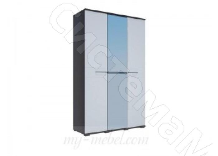 Модульная спальня Луиза - Шкаф 3-х ств. Дуб венге/Белый глянец
