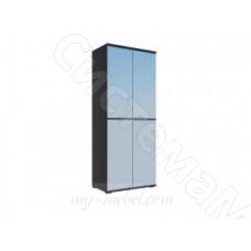 Модульная спальня Луиза - Шкаф 2-х ств. Дуб венге/Белый глянец