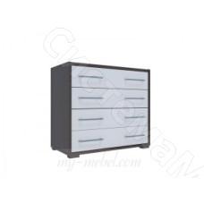 Модульная спальня Луиза - Комод. Дуб венге/Белый глянец