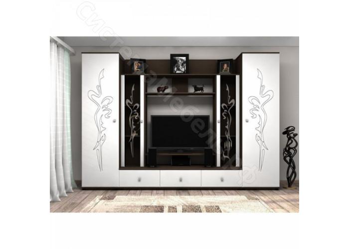 Гостиная Флоренция 4 - Венге/Белый глянец