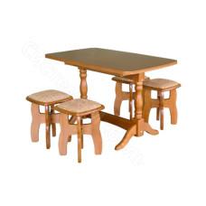 Стол прямоугольный раскладной - Бежевый