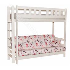 Кровать Фламинго - Массив дерева. Цвет - Слоновая кость