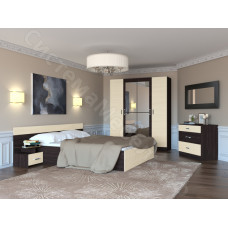 Спальня Флоренция - Венге/Дуб молочный. 4 модулей