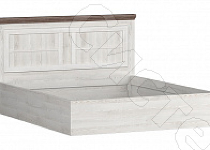 Спальня Ривьера - Кровать 1400. Сосна белая/сосна джурга