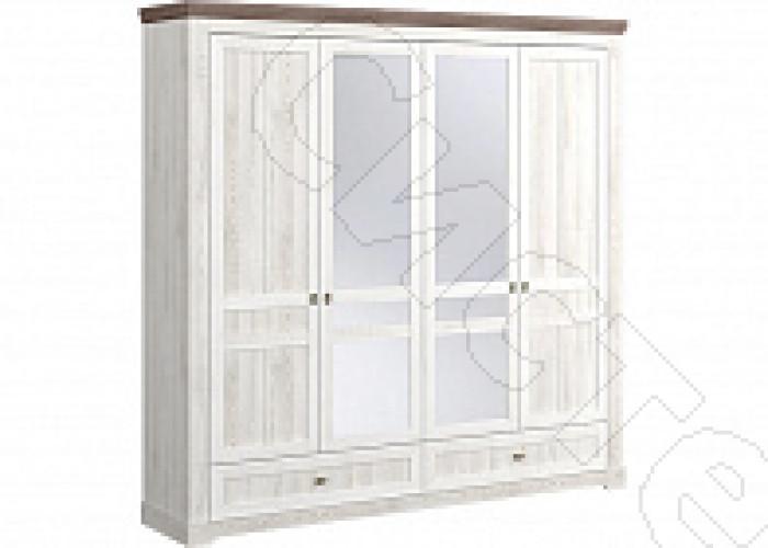 Спальня Ривьера - Шкаф 4-х ств. Сосна белая/сосна джурга