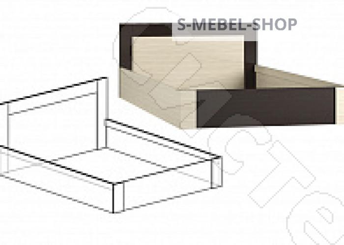 Спальня Берта 1 -  Кровать 1600 с подъемным механизмом. Венге/Ясень шимо светлый