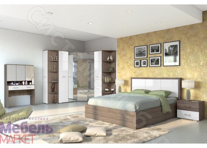 Модульная спальня Барселона 2 - Оксид/Белый глянец. До 17 модулей