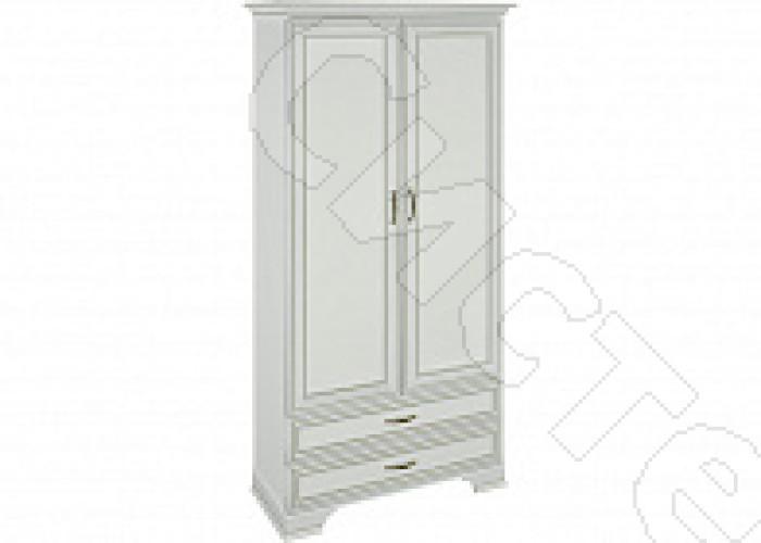 Спальня Каприз - Шкаф 2-х ств. комбинированный. Белый/ясень анкор