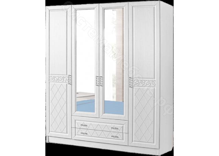 Спальня модульная Флоренция - Шкаф 4-х ств. Рельеф пастель