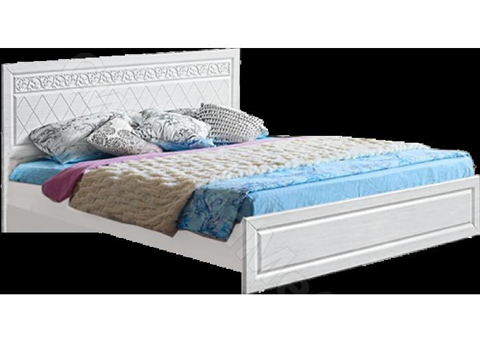 Спальня модульная Флоренция - Кровать 1,4 м. Рельеф пастель