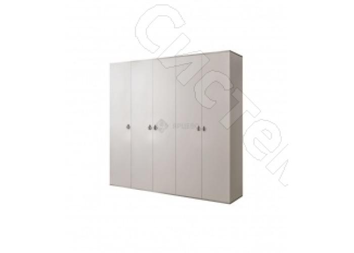 Модульная спальня Римини - Шкаф 5-ти дверный с зеркалом. Слоновая кость