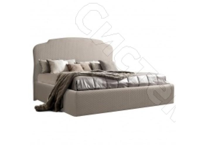 Модульная спальня Римини - Кровать 1,8 м с подъемным механизмом. Светло-серая