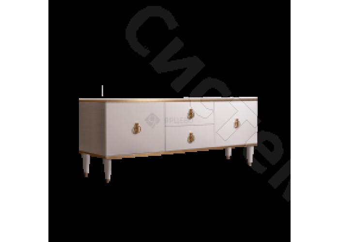 Модульная гостиная Римини - Тумба под ТВ 2 двери и 2 фасада. Слоновая кость