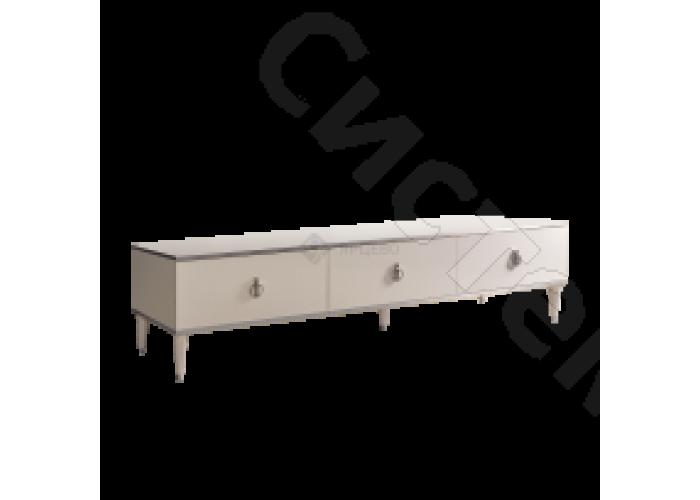 Модульная гостиная Римини - Тумба под ТВ с 3 ящиками. Слоновая кость
