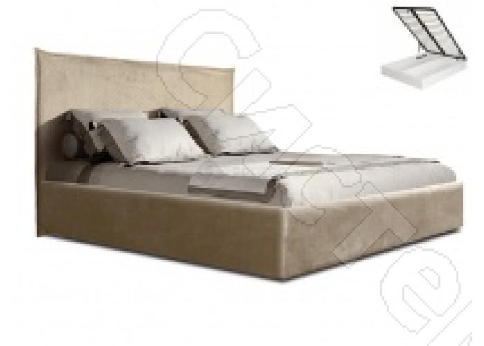 Модульная спальня Диора - Кровать 2-х спальня 1,6 м с подъемным механизмом. Слоновая кость