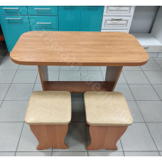 Обеденный стол «Весна» нераскладной + 2 табурета - Ольха