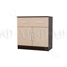 Модульная спальня Бася - Комод с ящиком и 2-мя дверьми. Дуб беленый/Венге