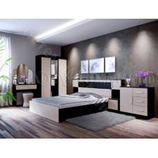 Модульная спальня Бася - Дуб беленый/Венге. До 8 модулей