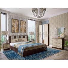 Модульная спальня Жасмин - Дуб беленый/Венге. До 6 модулей