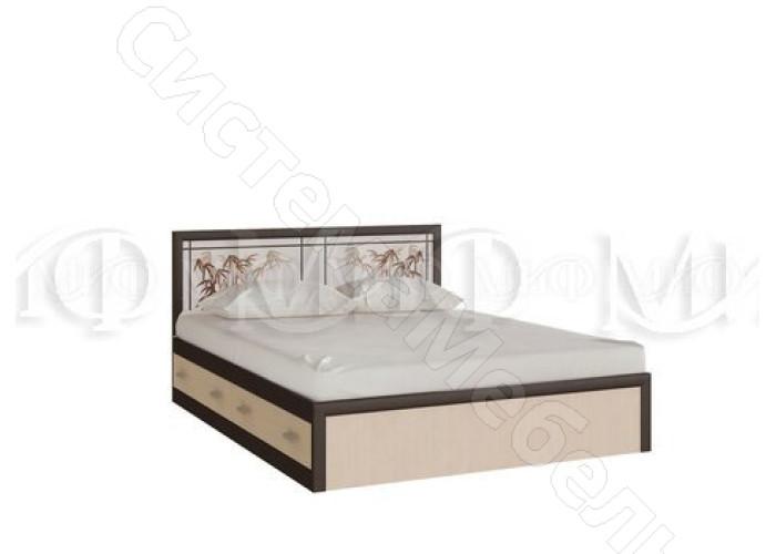 Модульная спальня Мальта - Кровать 1,6. Дуб беленый/Венге