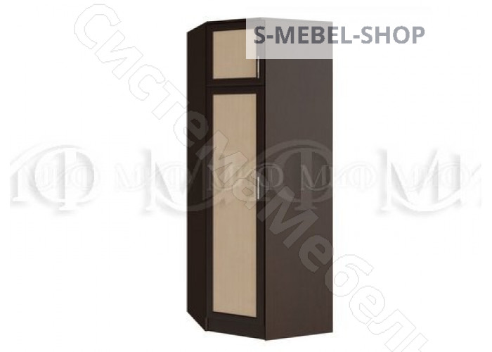 Модульная спальня Модерн - Шкаф угловой. Дуб беленый/Венге