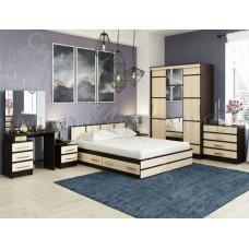 Модульная спальня Сакура - Дуб беленый/Венге. До 12 модулей
