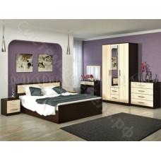 Модульная спальня Фиеста - Дуб беленый/Венге. До 12 модулей