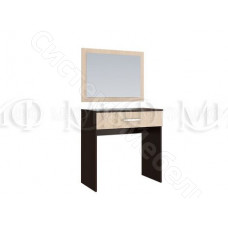 Модульная спальня Фиеста - Туалетный стол и зеркало. Дуб беленый/Венге