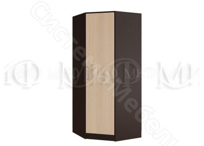 Модульная спальня Фиеста - Шкаф угловой. Дуб беленый/Венге