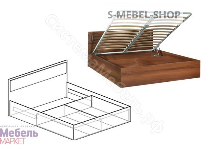 Спальня Линда - Кровать 1,6 м с подъемным механизмом. Орех Пегасо